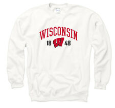 Wisconsin Badgers Adult Royalty White Out Crewneck - White