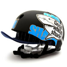 Motorcycle Helmet Decal Sticker Snowboarding Biker Hard Hat Sticker-Shark DOG 02
