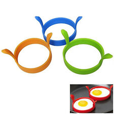 Egg Frying Rings Mould Fry Fried Poacher Cooking Pancakes Silicone Kitchen Tools