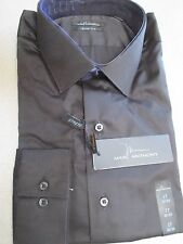 NWT Mens Dress Shirt by Marc Anthony, Gray OR Black, Button Down Shirt