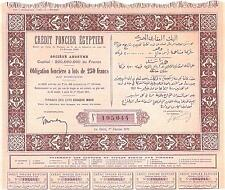 EGYPT 1911 BOND FROM CREDIT FONCIER EGYPTIEN