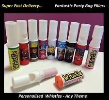 10 - 40 x PERSONALISED CANDY WHISTLE SWEETS BIRTHDAY PARTY BAG FILLER Swizzel h