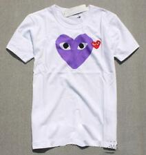 Tops Men's Comme Des Garcons CDG Play Lovely Heart Short women's Summer T-shirts