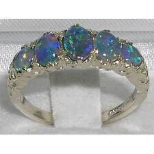 High Quality Solid Sterling Silver Fiery Opal English Victorian designed Ring