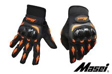 Masei 103 Black Orange Motorcycle Motocross Bike Gloves All sizes available