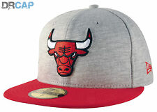 New Era 59Fifty Chicago Bulls NBA Team Jersey Grey Fitted Flat Peak Baseball Cap