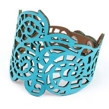 Blue/White/Black/Brown Faux Leather Braided Bracelet Wristband Bangle Cuff Gift