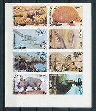 [G89020] State of Oman Fauna Prehistoric good imperf. set Very Fine MNH stamps