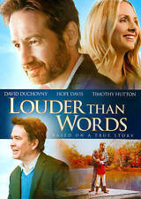 Louder Than Words DVD David Duchovny Timothy Hutton Hope Davis based true story