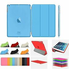 Smart Stand Magnetic Leather Case+Hard Back Cover For APPLE iPad 4/3/2 Air Mini