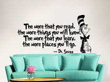 Dr Seuss Wall Decal Quote Vinyl Sticker Decals Sayings Nursery Baby Decor ZX238