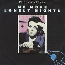 "Paul McCartney and Wings No More Lonely Nights - P/S 7"" vinyl single record UK"