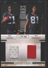 C.J. CJ SPILLER MARCUS EASLEY 2010 ROOKIES & STARS JERSEY PATCH RC /299 $15