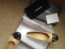 Chanel Classic Beige and black Ballerinas