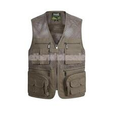 Men Quick-Dry Mesh Vest Waistcoat for Outdoor Fishing Hiking Hunting Photography