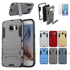 Hybrid Shockproof Kickstand Hard Phone Case Armor Soft Silicone Bumper Cover