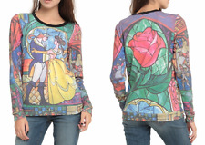 WOMENS DISNEY'S BEAUTY AND THE BEAST LONG SLEEVED PULLOVER TOP SWEATSHIRT