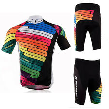 New Mens Bicycle Wear 4D Padded Bike Shorts Colorful Elastic Cycling Jersey Kits