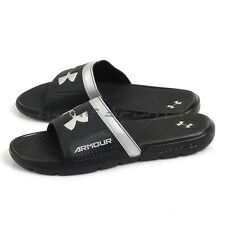 Under Armour UA Playmaker VI Black/Silver Sports Sandals Slippers 1287323-001