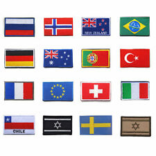 National Country Flag Embroidered Iron/Sew On Badge Patch approx 6x4cm Souvenirz