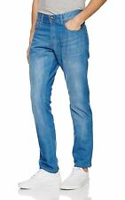 Firetrap Mens Fashion Jeans Straight Regular Fit Vintage Mid Wash 03 Blue Denim