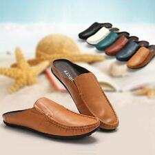 Mens Flats Leather Shoes Soft Slippers Loafers moccasin Casual Drving Shoes Size
