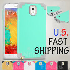 Shockproof Rugged Hybrid Rubber Hard Cover Case for Samsung Galaxy Note 3 4