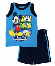Disney Toddler Boys Mickey Friends Jersey Tank Top Shorts 2 Piece Set 2T 4T Blue