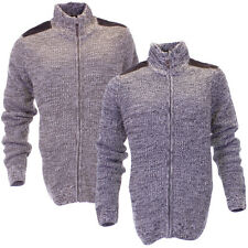 Mens Urban Revival Knitted Casual Jacket Zip Through Front In 2 Colours