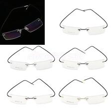 1x Fashion Metal Rimless Eye Glasses Optical Eyeglasses Spectacle Eyewear Frames