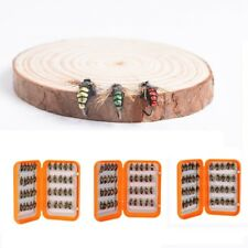 Fly Fishing Flies with Box 40pcs Dry Flies Salmon Trout Fishing Flies Lures