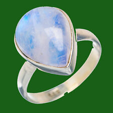 PURE MOON STONE 925 SOLID STERLING SILVER HANDMADE RING CUSTOM SIZE 5,6,7,8,9