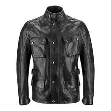 Belstaff Turner Wax Leather Jacket - Antique Black