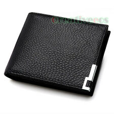 Fashion Men's Genuine Leather Wallet Pocket Card Clutch Cente Bifold Purse New