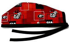 Men's Unlined Surgical Scrub Hat  in Georgia Bulldogs New Block