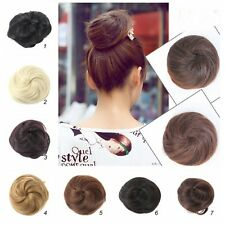 Stylish Ponytail Women Clip in/on Hair Bun Hairpiece Hair Extension Scrunchie US