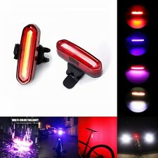 HOT USB Rechargeable COB LED Bicycle Cycling Front Rear Tail Lights Lamps Set