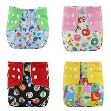 1pc Adjustable Reusable Infant Baby Washable Cloth Diaper Nappies Printed Shorts
