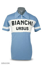 Bianchi Ursus vintage style wool jersey, chainstitch embroidery, maglia, maillot