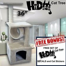 Cat Kitty Tree Scratcher Play House Condo Furniture Toy Bed Post House FREE GIFT