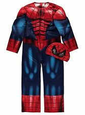 MARVEL SPIDERMAN BOYS FANCY DRESS COSTUME (AGE 3-8 YRS) - BRAND NEW