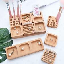 MagiDeal Unfinished Wooden Necklace Earrings Ring Jewelry Storage Display Crafts