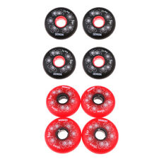 4Pcs Inline Roller Hockey Fitness Skate Wheel 84A Black/Red - 72mm/76mm/80mm