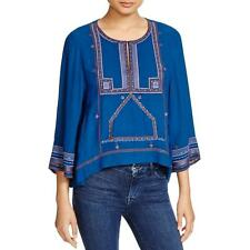 Twelfth St By Cynthia Vincent 2835 Womens Embroidered Keyhole Blouse Top BHFO
