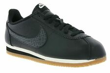 NEW NIKE W Classic Cortez Leather Lux Shoes Women's Sneakers Black 861660 004