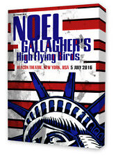 Noel Gallagher High Flying Birds Concert/Gig Poster on Canvas. New York 2016