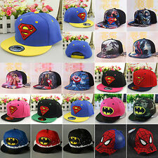 Superhero Toddler Baby Kid Hip Hop Baseball Cap Sun School Toddler Snapback Hat