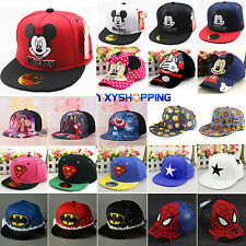 Children Cartoon Peaked Baseball Cap Snapback Kid Boys Girl Hip-hop Sun Hat Cute
