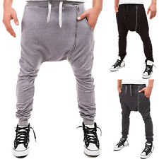 Men's Casual Pants Men Loose Hip Hop Harem Joggers Cotton Solid Comfort Casual