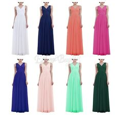 Dinner Pretty Women V-neck Long Evening Bridesmaid Party Prom Formal Maxi Dress